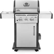 Napoleon Rogue 365 Stainless Steel Gas BBQ (Propane) with Side Burner