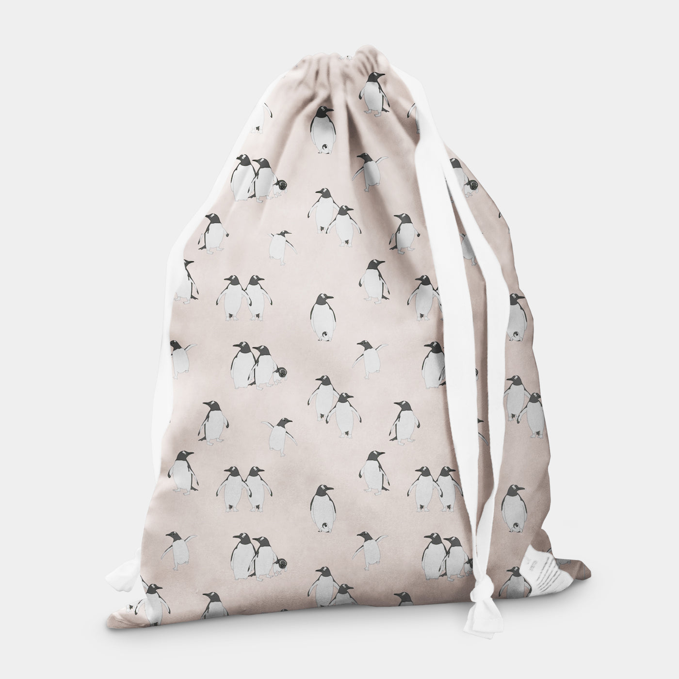 laundry bag penguin ice pink