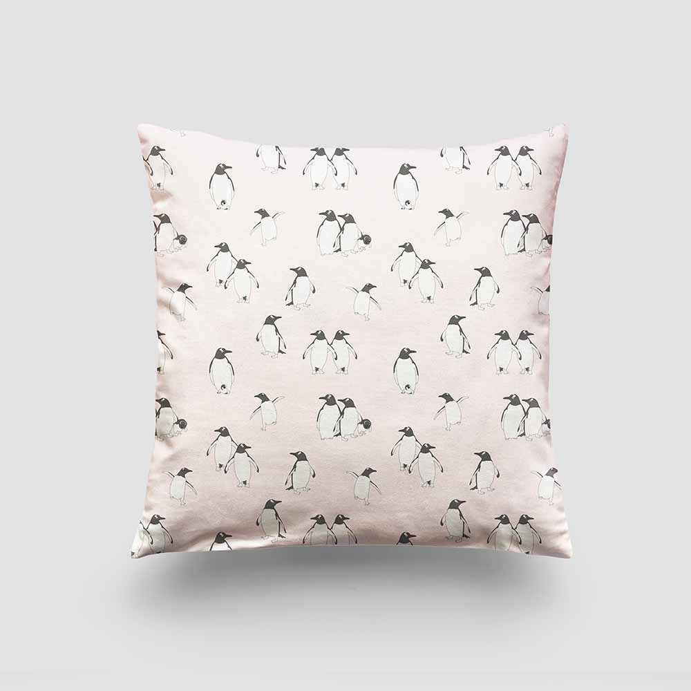 large cushion penguin ice pink