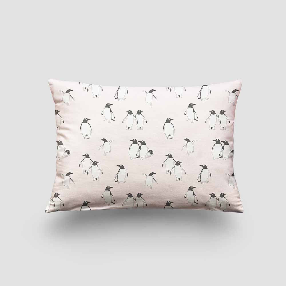 small cushion penguin ice pink