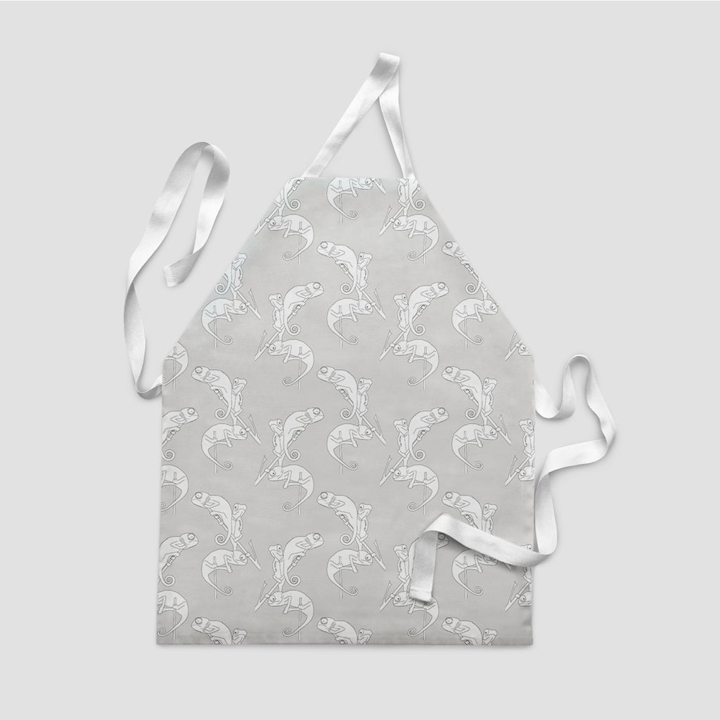 children's apron chameleon camo grey