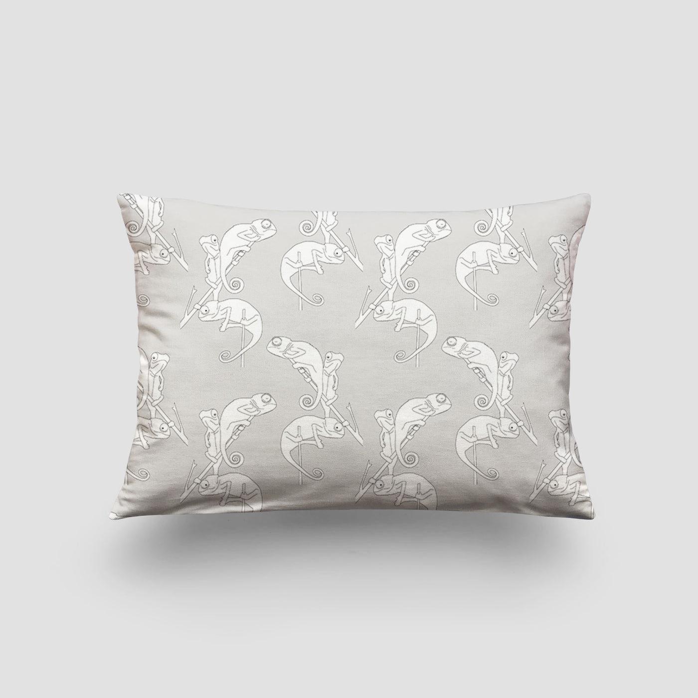small cushion chameleon camo grey