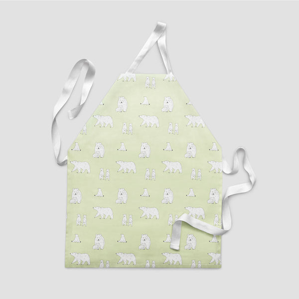 children's apron bear cloudy apple