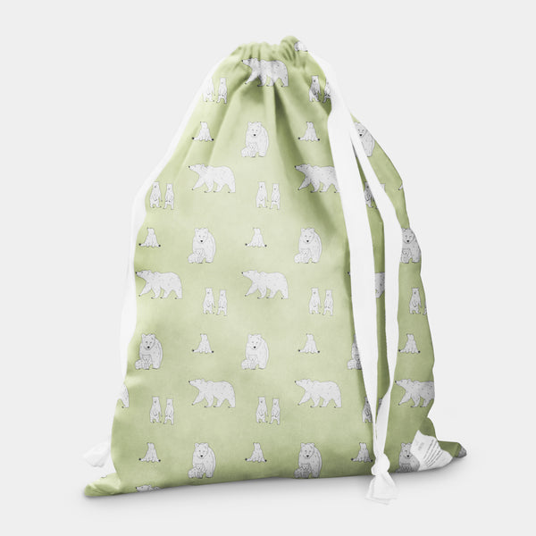 laundry bag bear cloudy apple