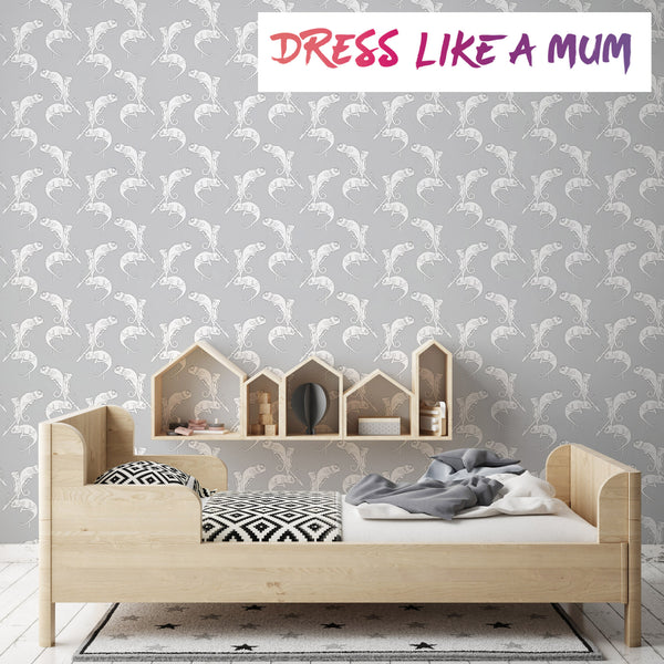 wallpaper chameleon camo grey
