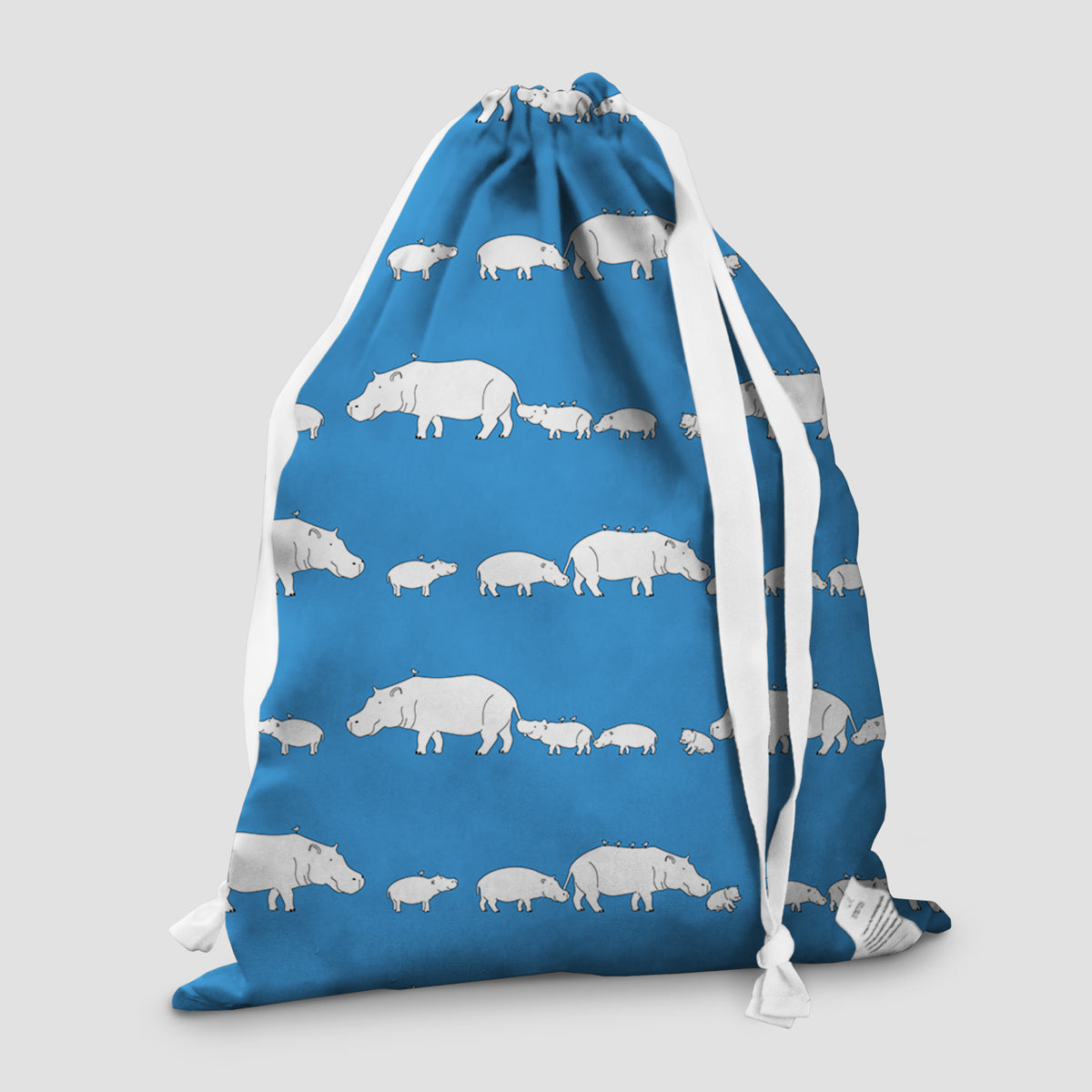 laundry bag hippo blue lagoon