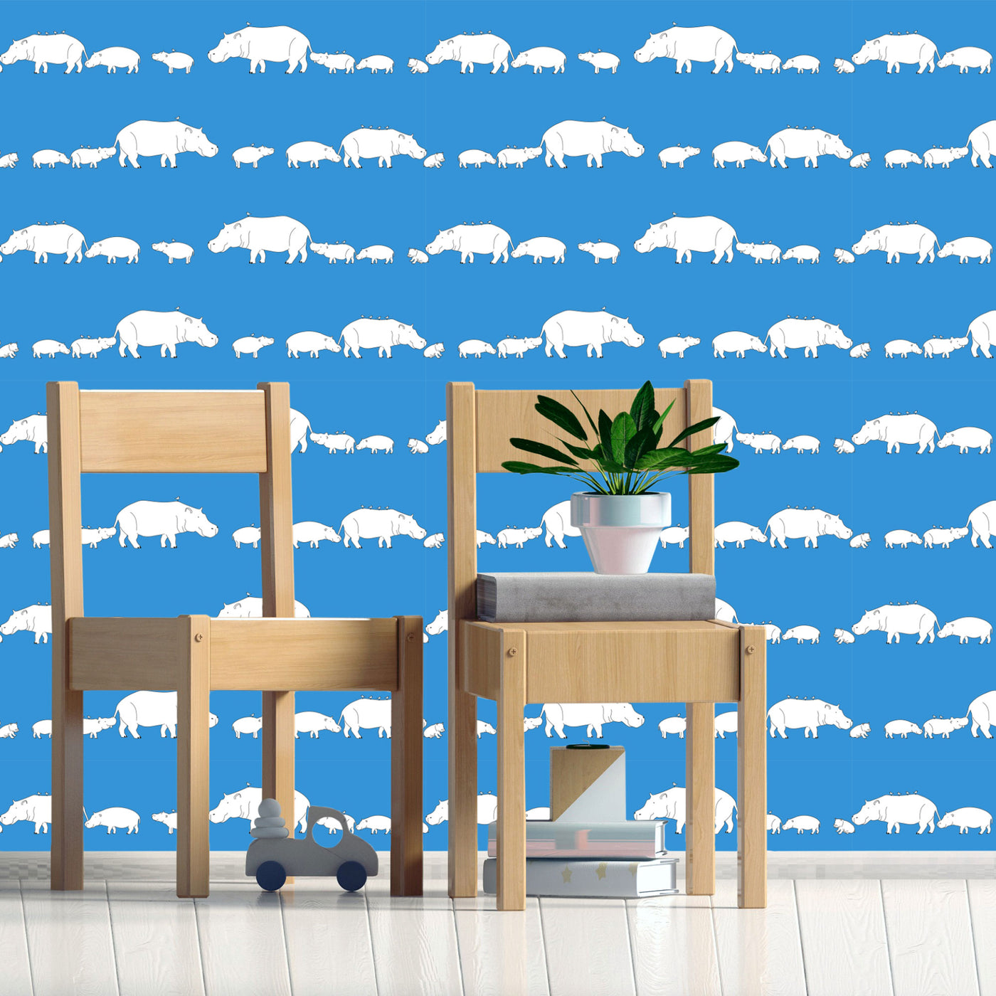 wallpaper hippo blue lagoon