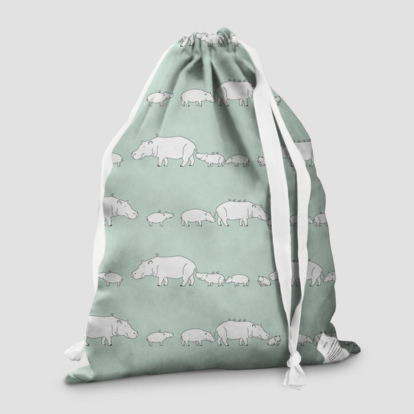 laundry bag hippo mint pod