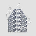 children's apron geese ink blue