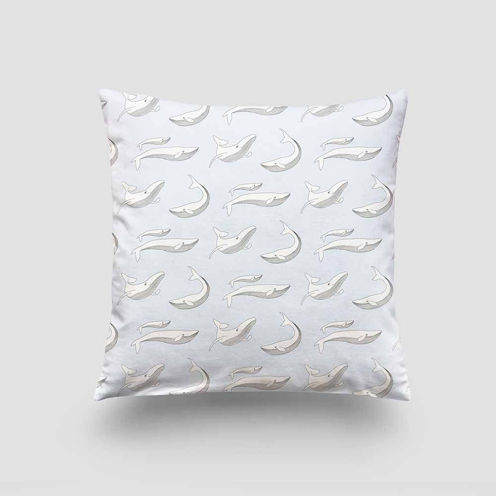 large cushion whale moon grey