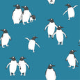 wallpaper penguin atlantic blue