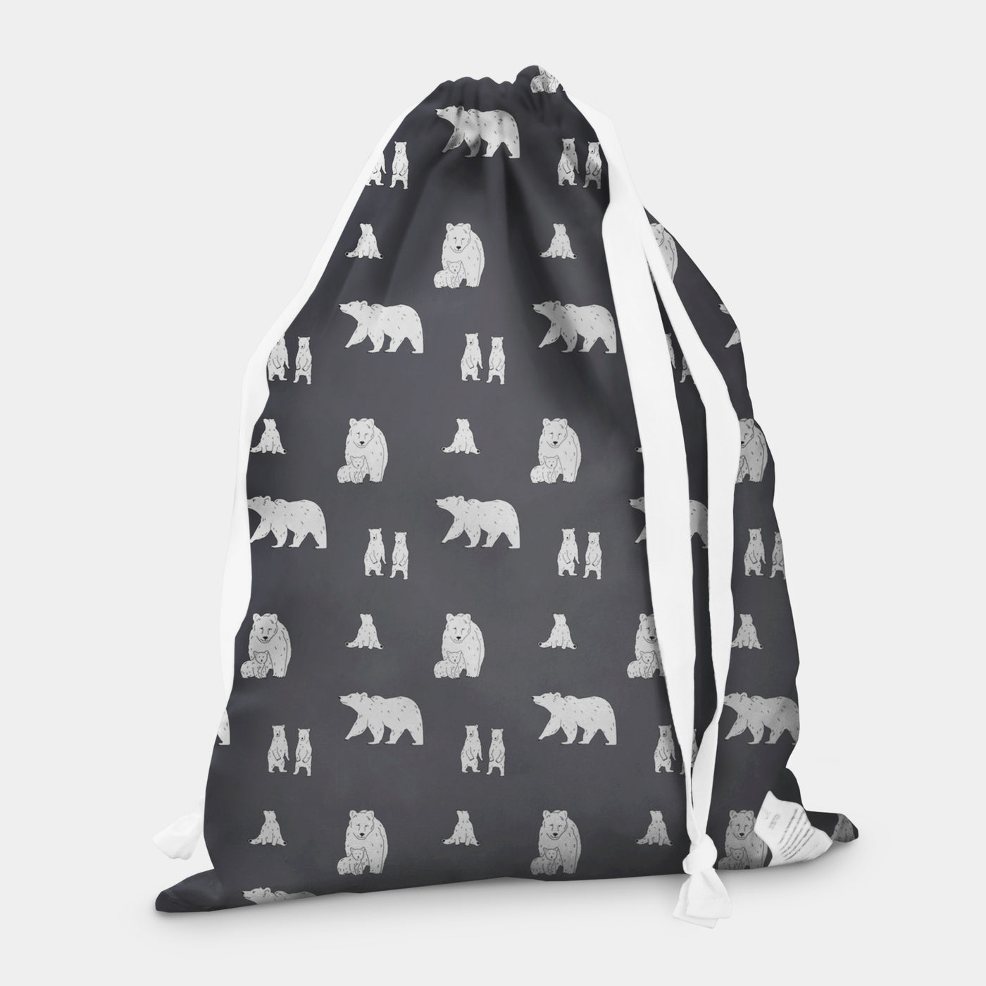 laundry bag bear slate grey