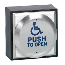STP-CM-41/4 'Push To Open' Switch With Disabled Logo Engraved