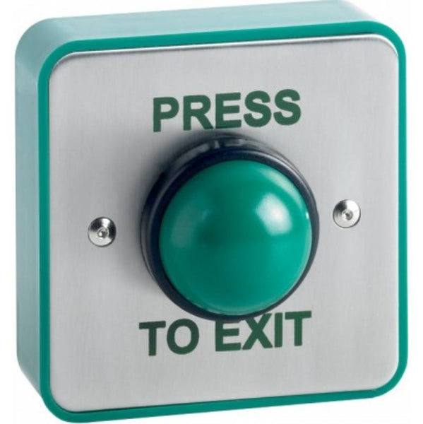 STP-SPB004S(W) Weatherproof Surface Green Dome Exit Button