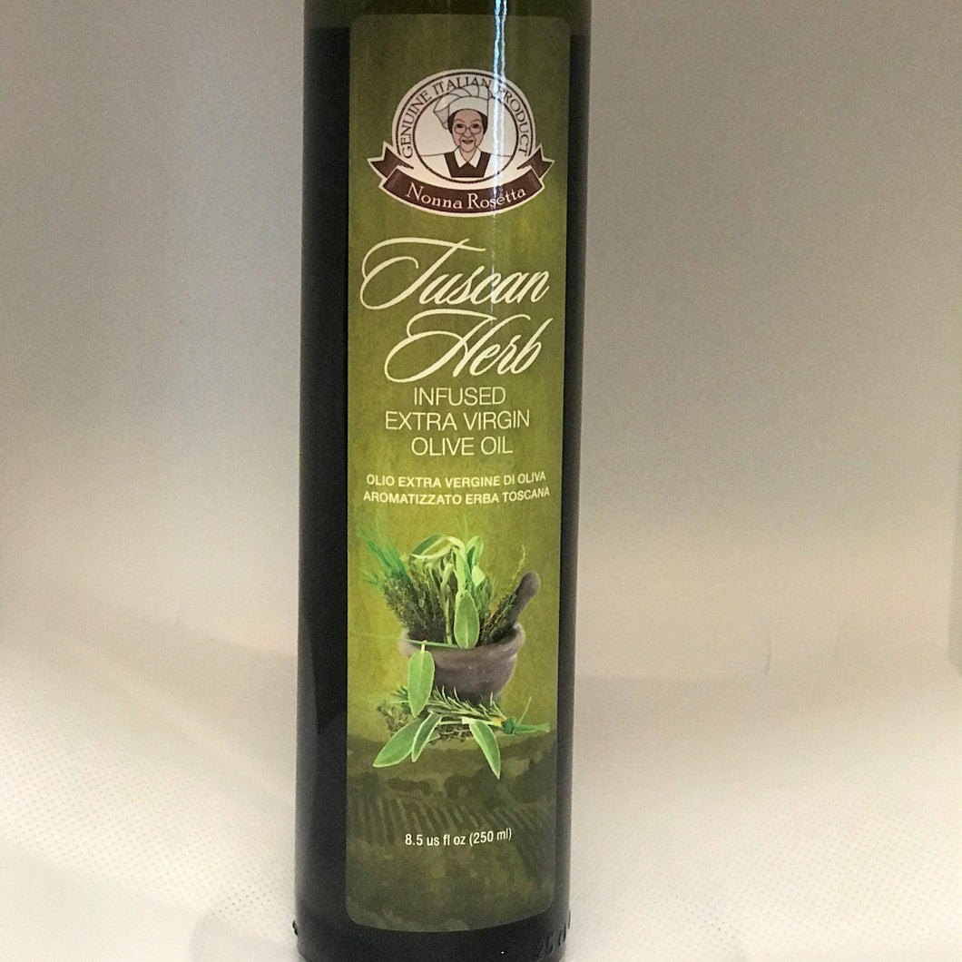 Nonna Rosetta Extra Virgin Olive Oil infused with Tuscan Herbs
