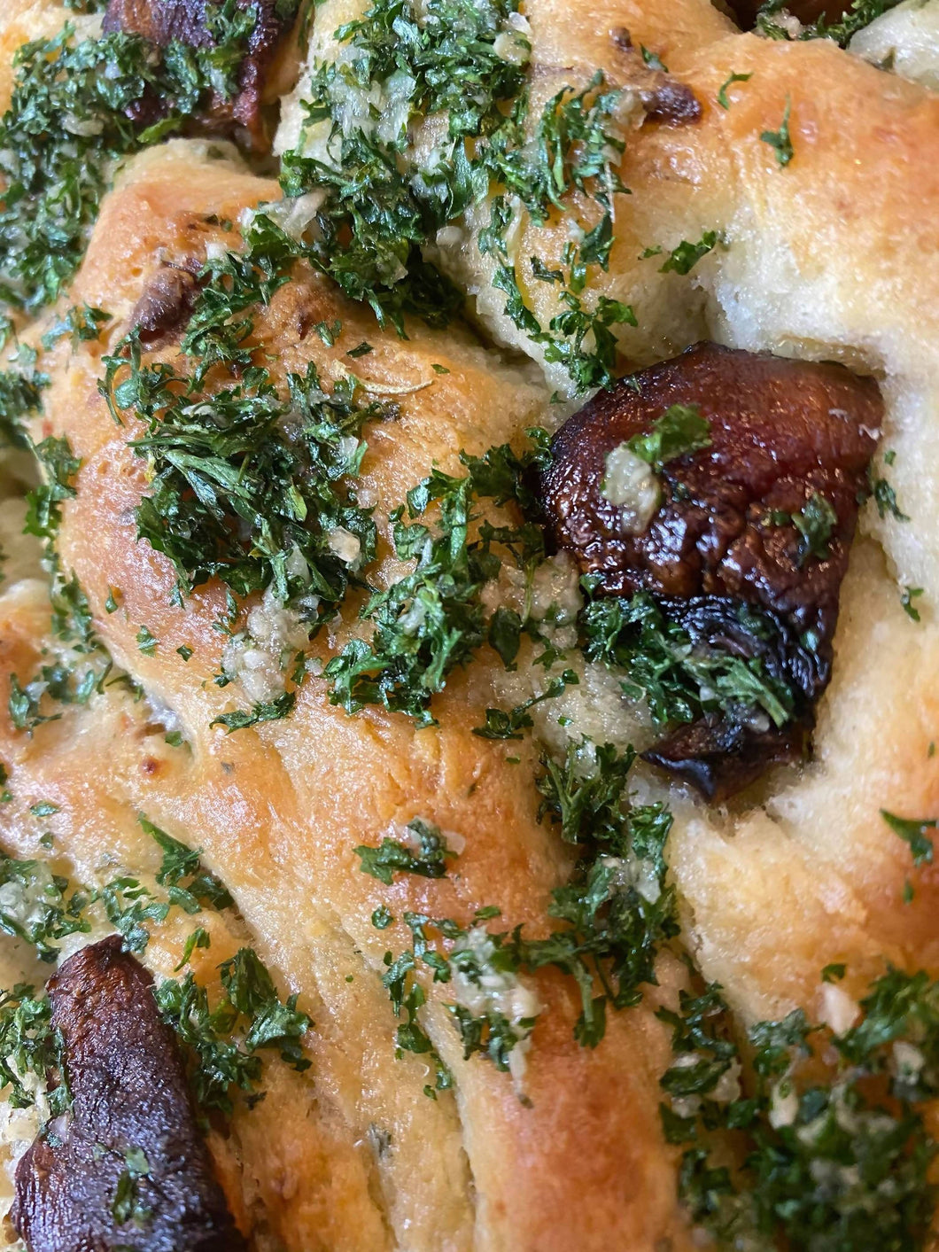 Roasted Mushroom, Herb & Garlic Focaccia