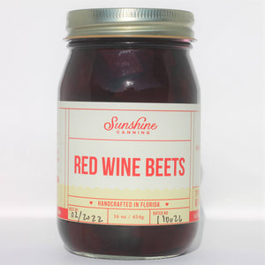 Sunshine Canning Red Wine Beets