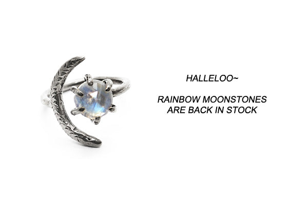 Laurel Hill Jewelry // rainbow moonstone