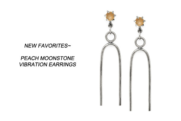 Laurel Hill Jewelry // peach moonstone