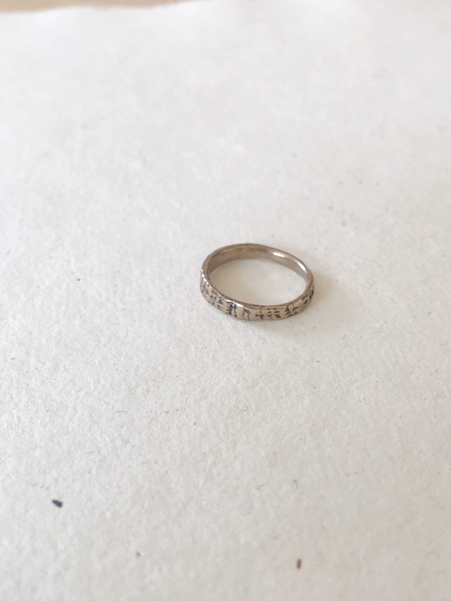 {SS} Textured Ring // bronze