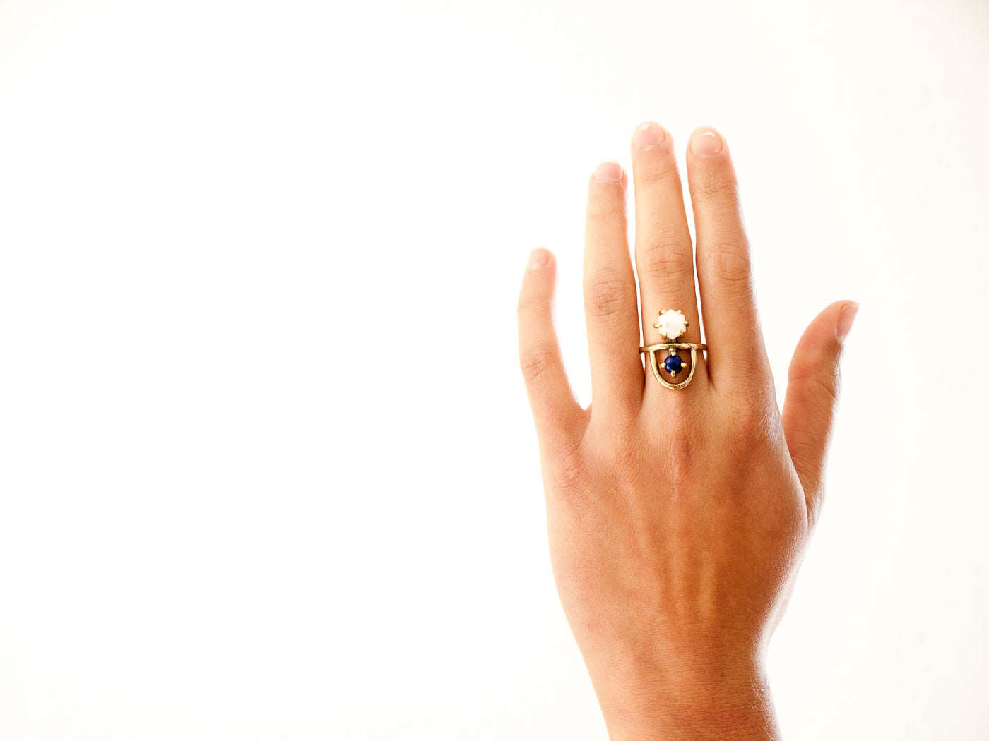 Arche Ring // Moonstone & Lapis