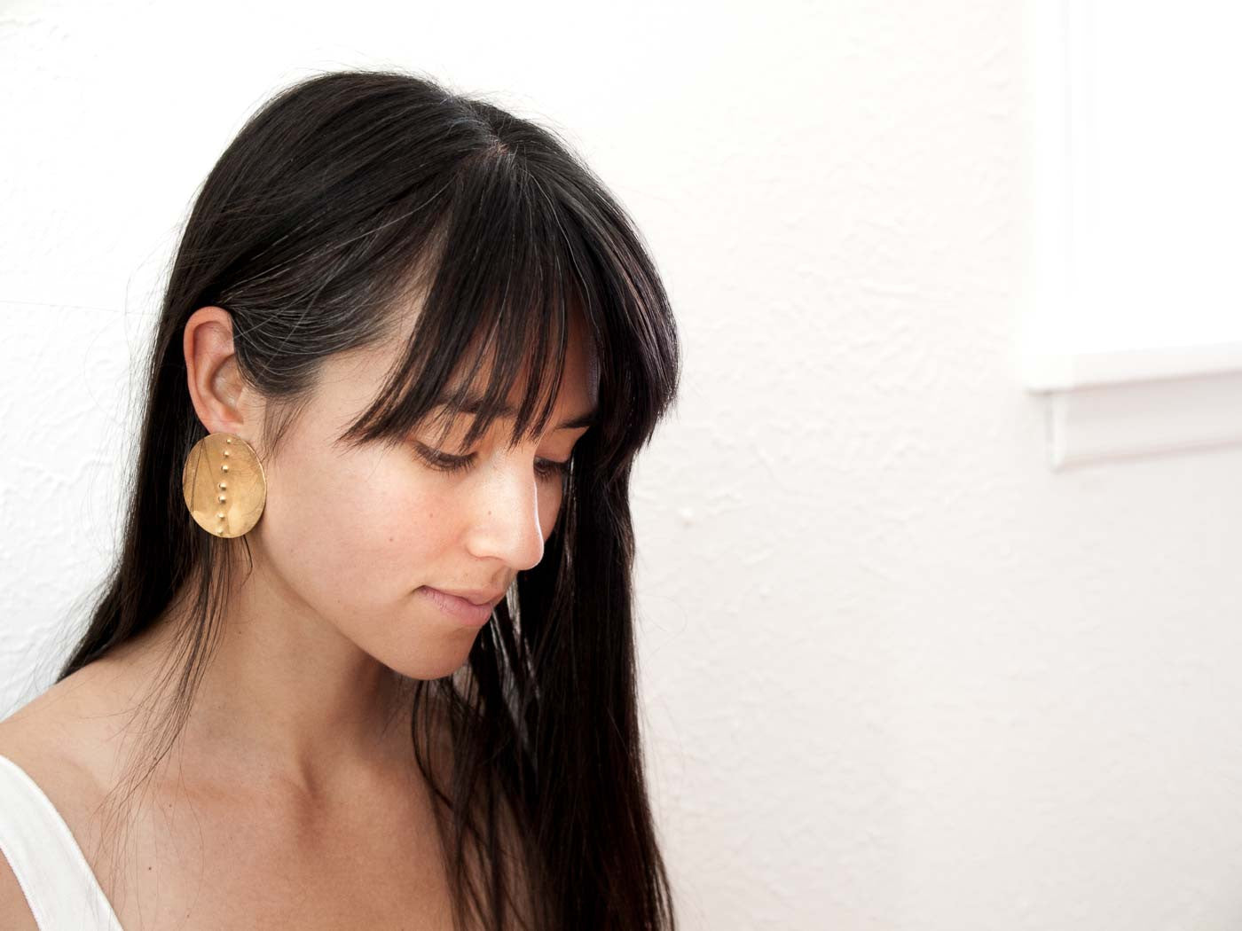 Petroglyph Disc Earrings