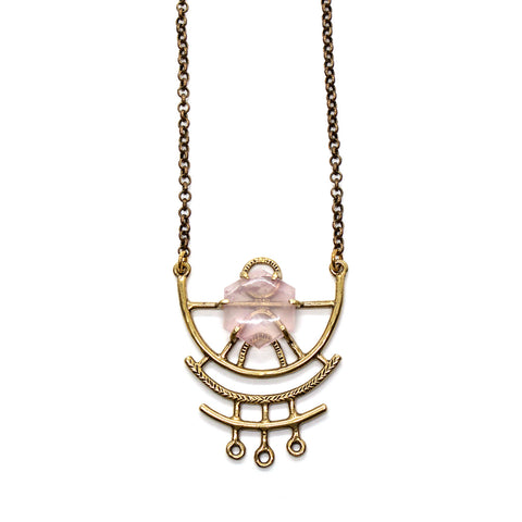Dreamweaver Necklace // Rose Quartz