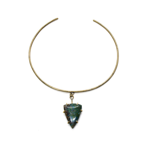 Chrysocolla Shield Collar
