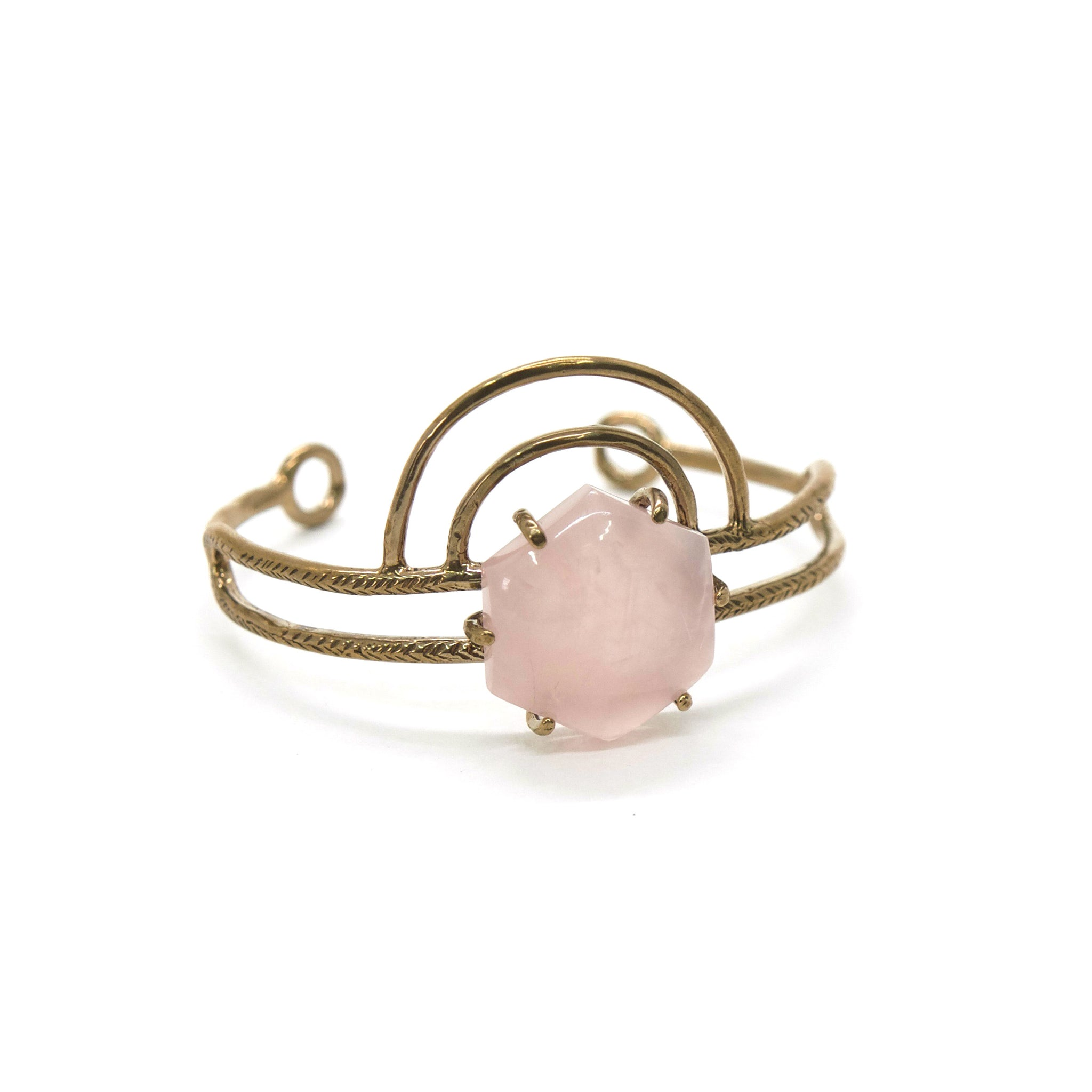 Dreamweaver Cuff // Rose Quartz {wholesale}