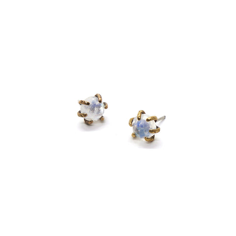 Io Studs // Moonstone {wholesale}