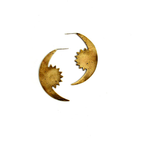 Rising Crescent Earrings
