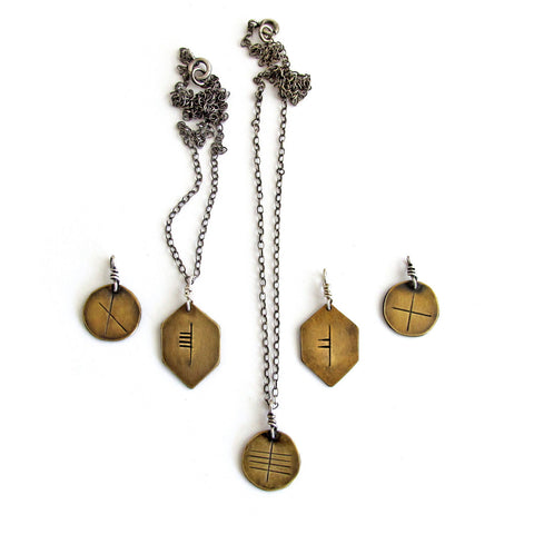 Ogham // Celtic Tree Alphabet Personalized Rune Necklace