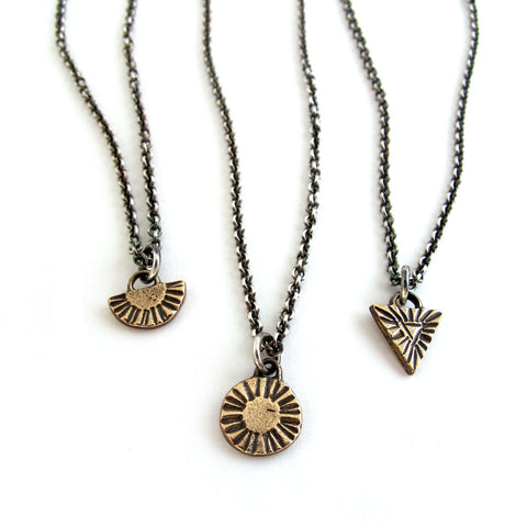 Relic Necklace // Arc, Circle, or Triangle