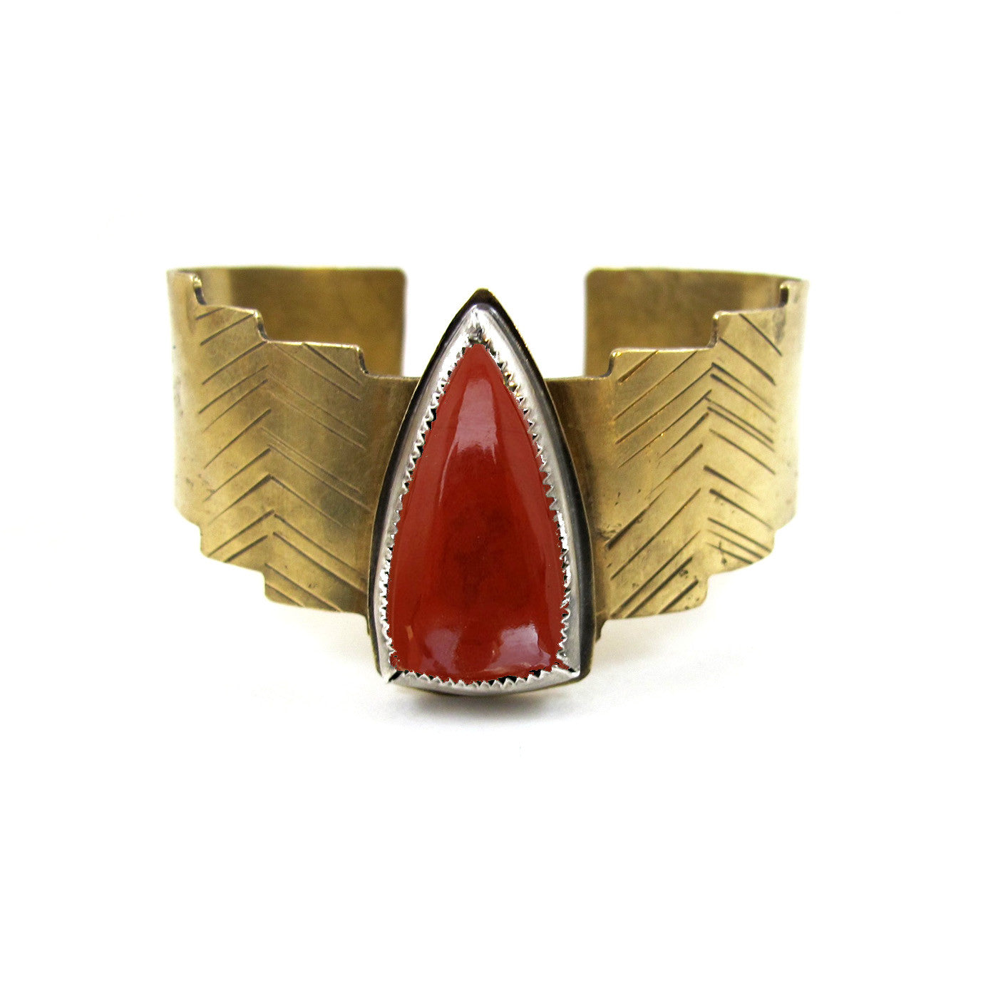 Shield Cuff // Red Jasper