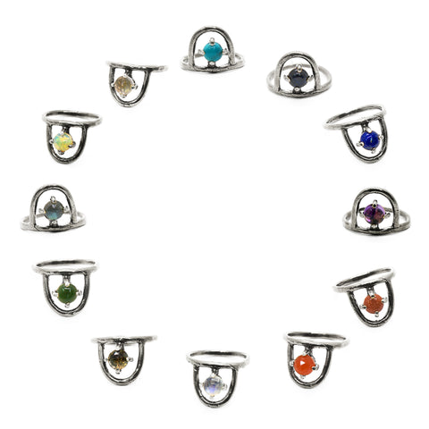 Zodiac Birthstone Ring // sterling {wholesale}