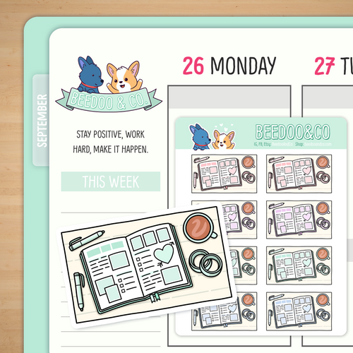 Planning Time Flat Lay Planner Stickers