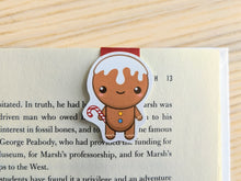 Load image into Gallery viewer, Gingerbread Man Magnetic Bookmark