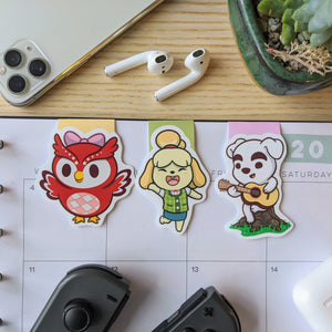 Animal Villagers Magnetic Bookmarks
