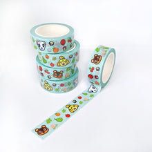 Load image into Gallery viewer, 15mm Animal Villager Washi Tape, Galaxy Space Corgi Washi Tape, Pink Floral Crown Corgi Washi Tape