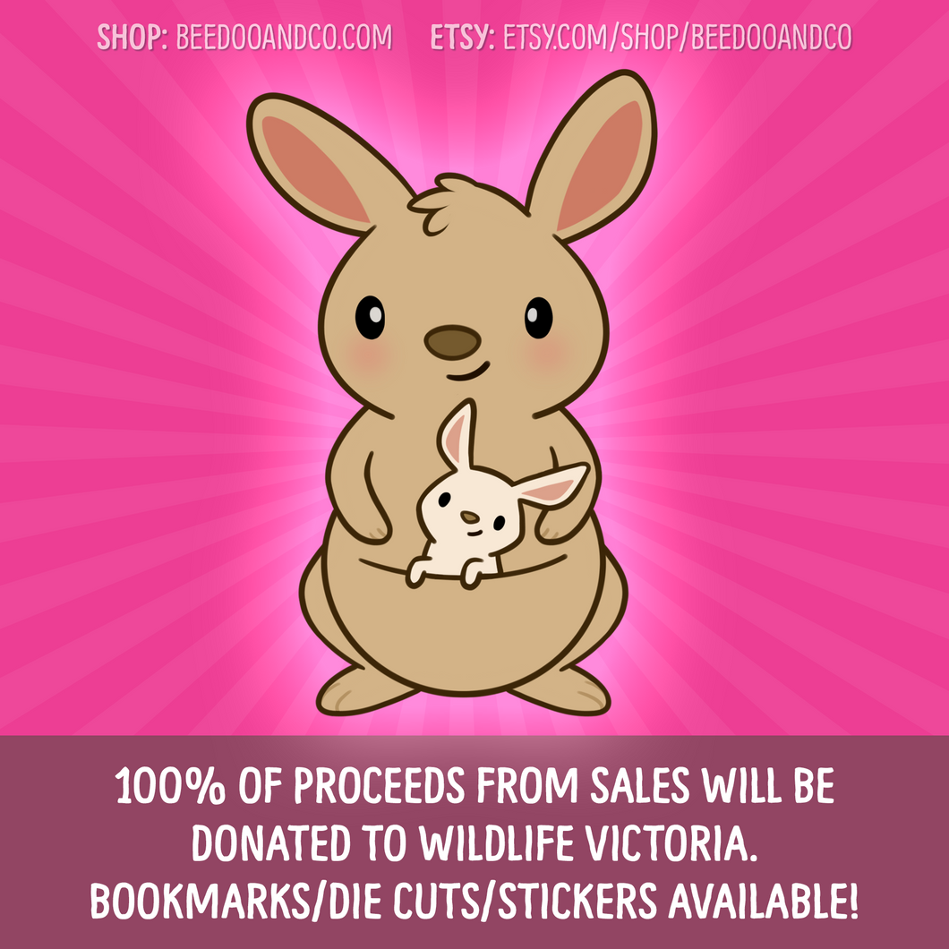 Charity Kangaroo Magnetic Bookmark/Planner Stickers/Die Cut