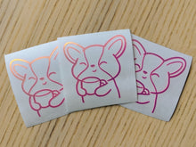 Load image into Gallery viewer, Miso Corgi Vinyl Stickers - Pink Opal