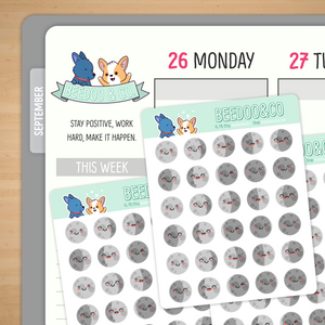 Moon Phases Emojis Planner Stickers