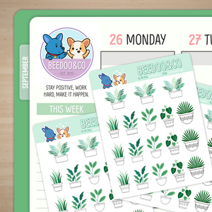 Aesthetic Plants Planner Stickers