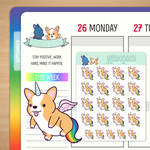 Unicorg Planner Stickers