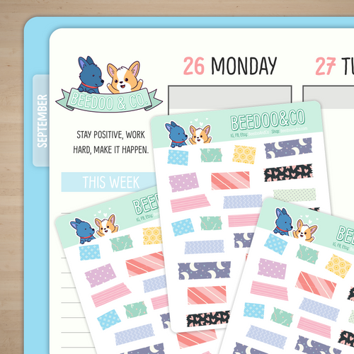 Washi Strip Planner Stickers