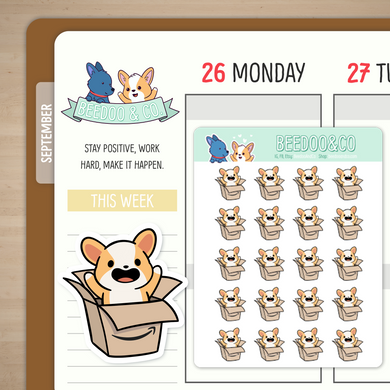 Amazon Package Miso Corgi Planner Stickers
