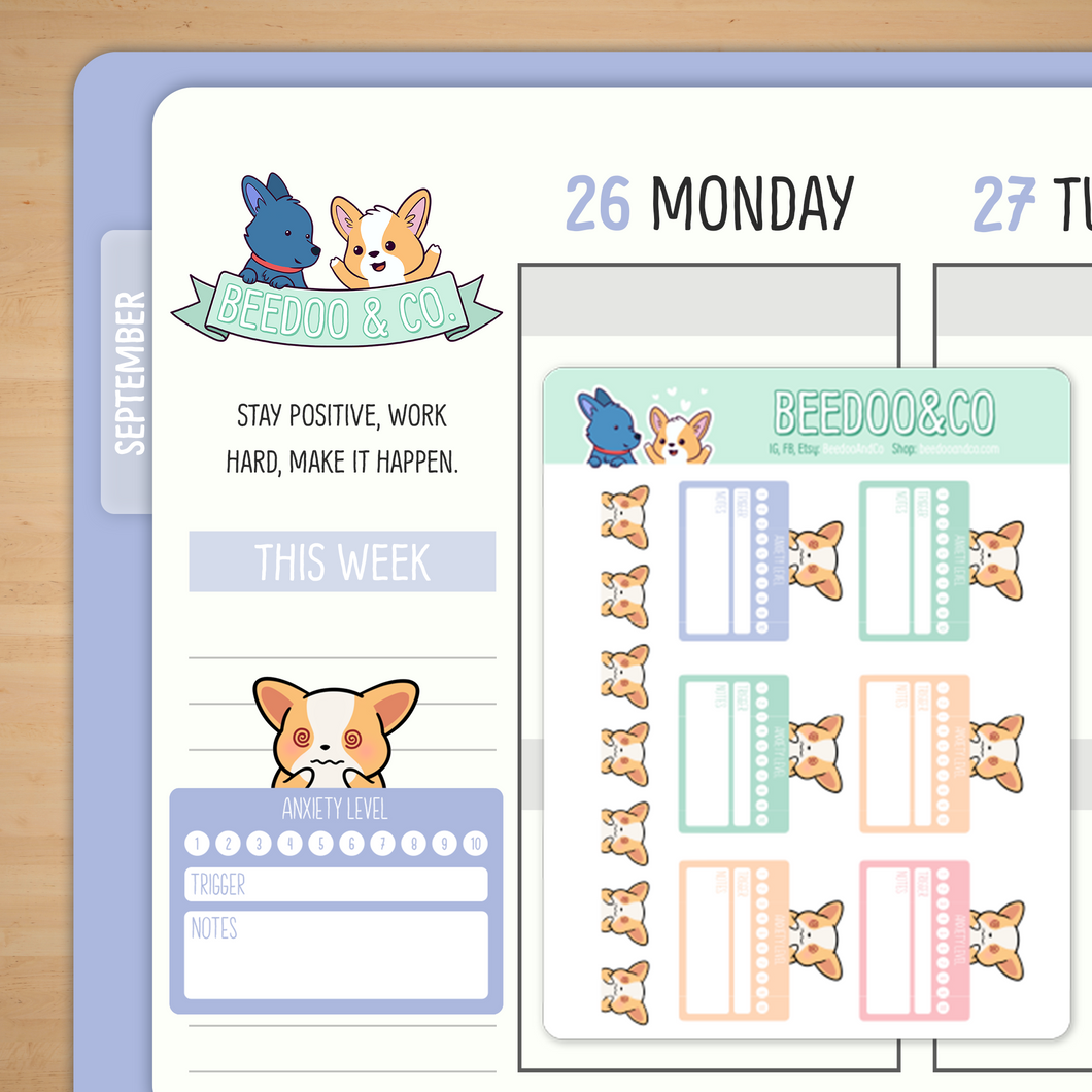 Anxiety Tracker Planner Stickers