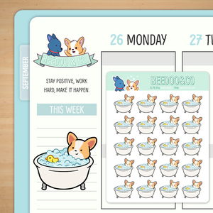 Take a Bath Planner Stickers