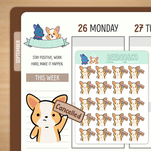 Cancelled Planner Stickers