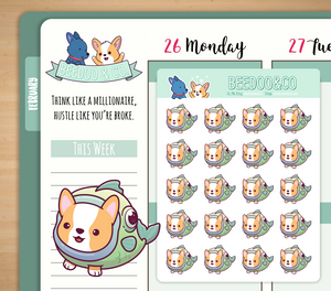 Fish Corgi Planner Stickers